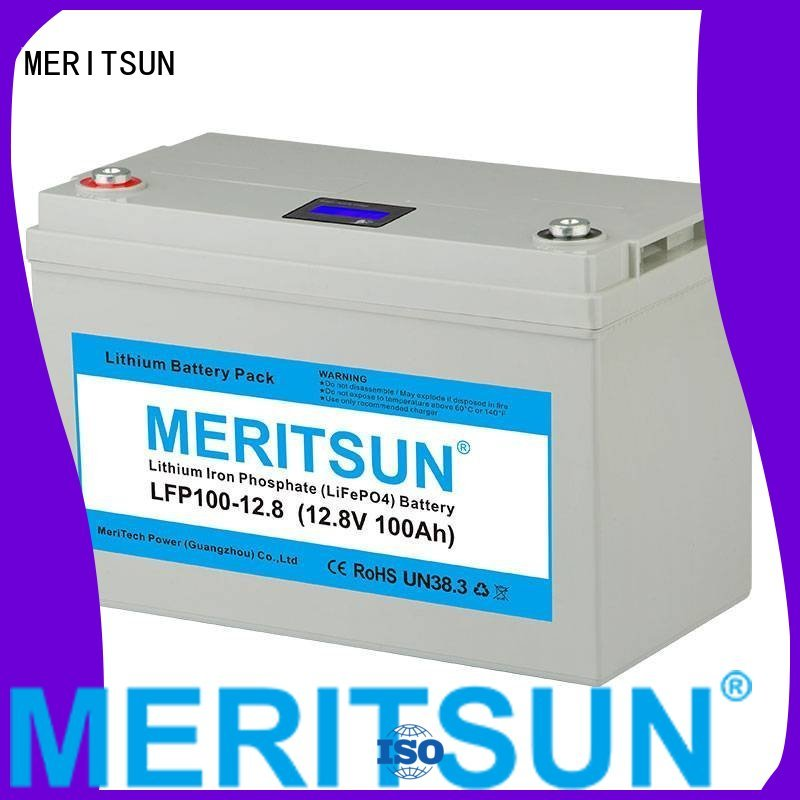 Wholesale cycle 100ah lifepo4 battery MERITSUN Brand