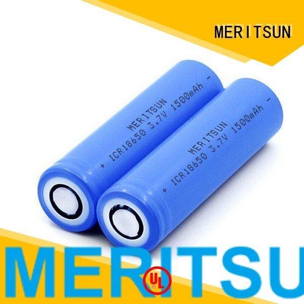battery li 2400mah drain MERITSUN li ion battery cell