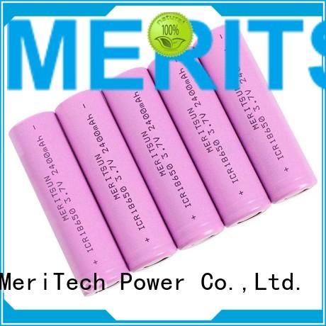 MERITSUN Brand drain 18650 custom lithium ion battery cells