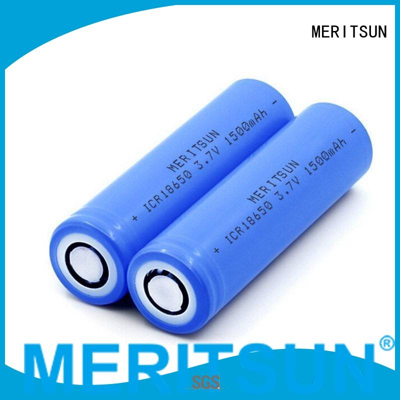 icr li rechargeable OEM li ion battery cell MERITSUN