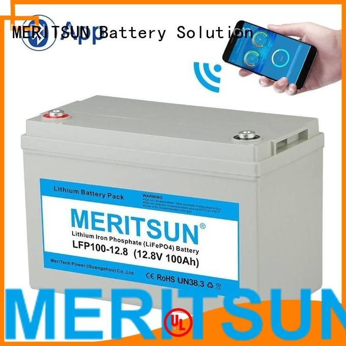 app lifepo4 battery cycle MERITSUN company