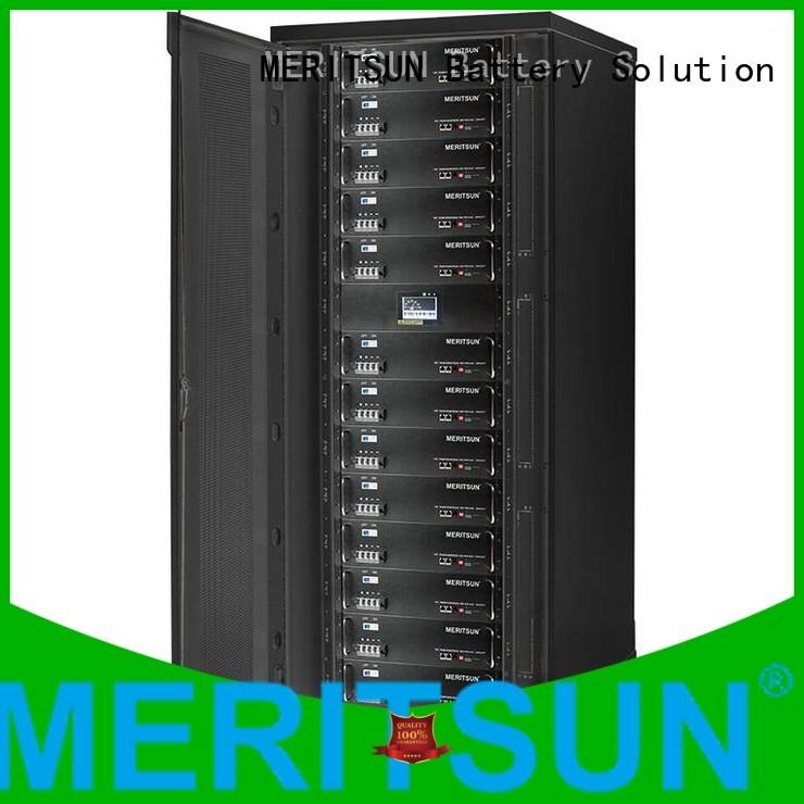 telecom Custom lithium iron battery energy storage system MERITSUN battery