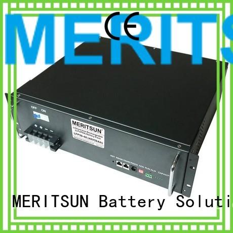 Custom telecom battery energy storage system solar MERITSUN