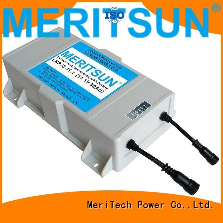 lithium lipo battery solar street light lithium battery MERITSUN