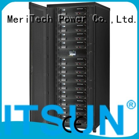battery lifepo4 iron MERITSUN Brand solar energy storage system factory