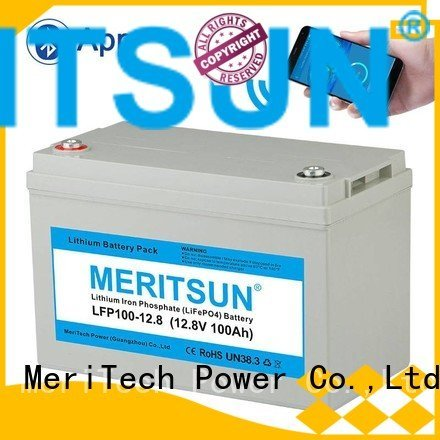 Wholesale bluetooth lifepo4 battery pack MERITSUN Brand
