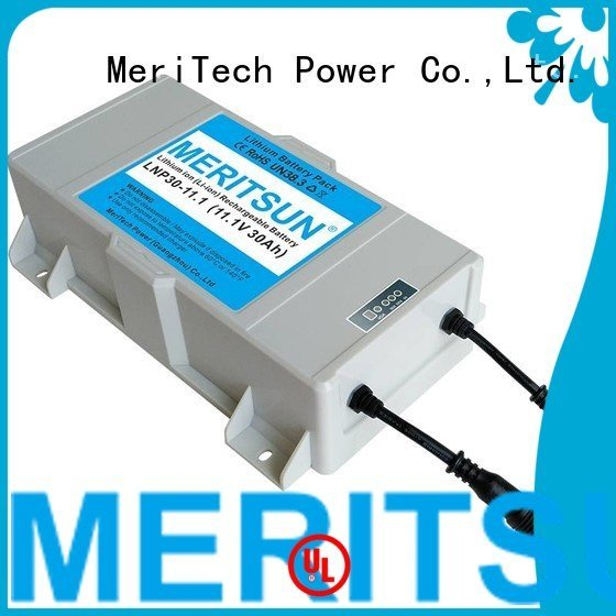 lithium ion battery for solar street light long rechargeable MERITSUN Brand