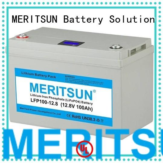 phosphate lifepo4 battery 256v 100ah MERITSUN company