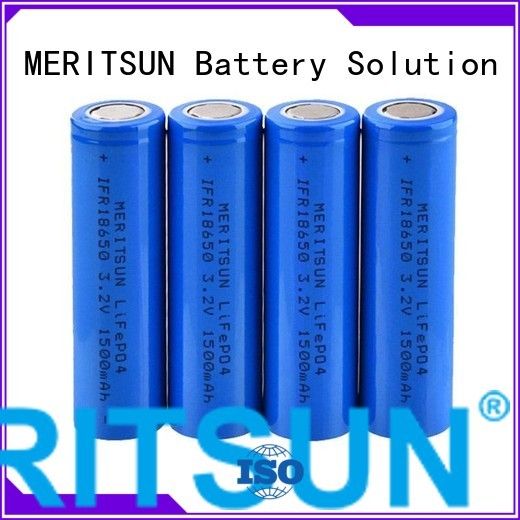 MERITSUN Brand battery li ion battery cell 18650 factory