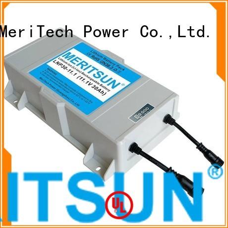 one street all MERITSUN Brand lithium ion battery for solar street light manufacture