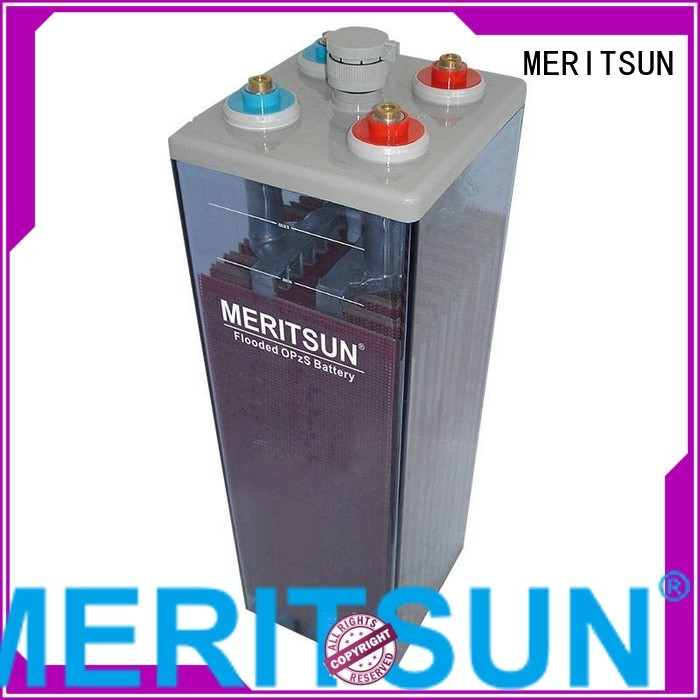 Quality MERITSUN Brand vrla gel battery terminal tubular
