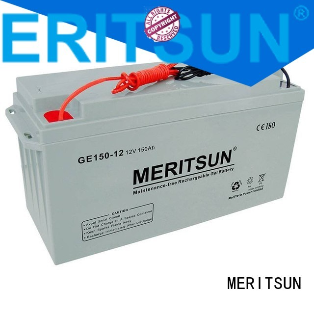 tubular flooded vrla gel battery MERITSUN Brand