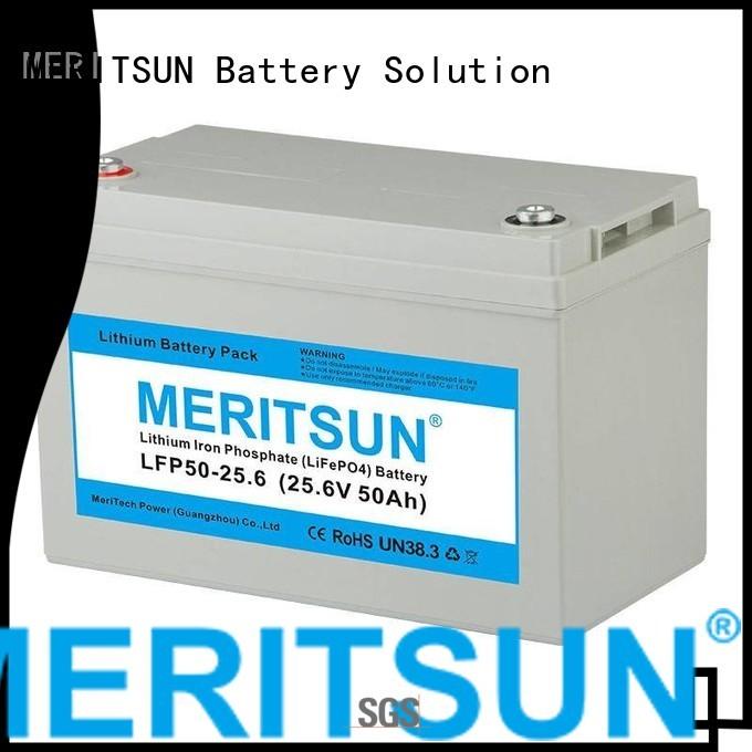 MERITSUN Brand phosphate 1c 50ah lifepo4 battery manufacture