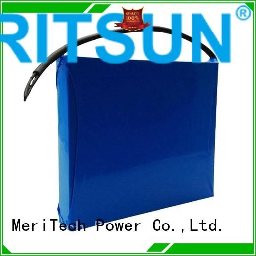 lithium ion battery for solar street light rechargeable solar street light lithium battery MERITSUN Brand