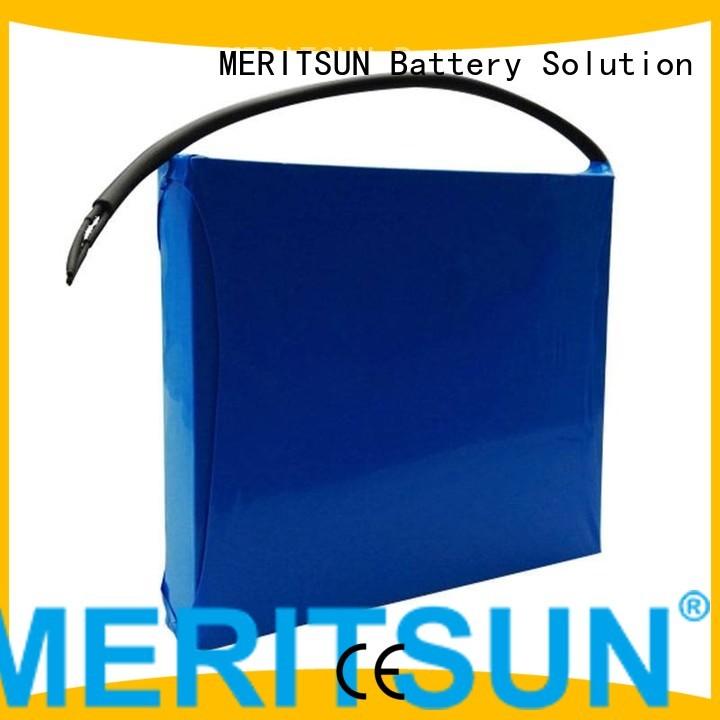 lithium ion battery for solar street light lipo lithium MERITSUN Brand solar street light lithium battery