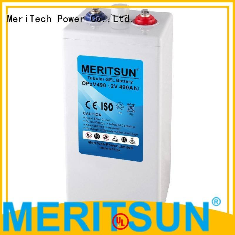 MERITSUN front cycle opzv battery vrla tubular