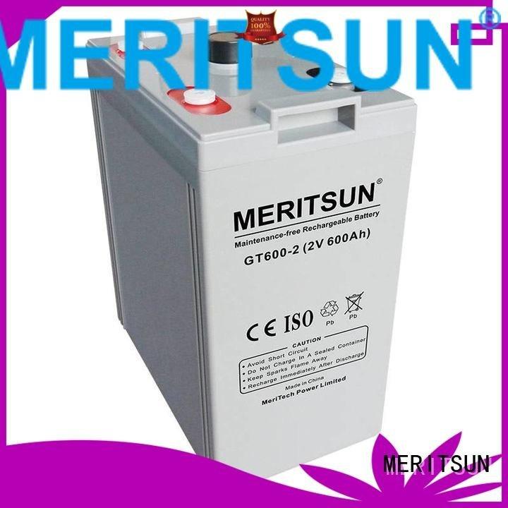 MERITSUN Brand tubular front vrla opzv battery battery