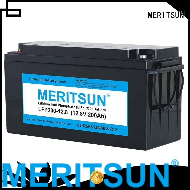 battery life control 1c MERITSUN Brand lifepo4 battery supplier