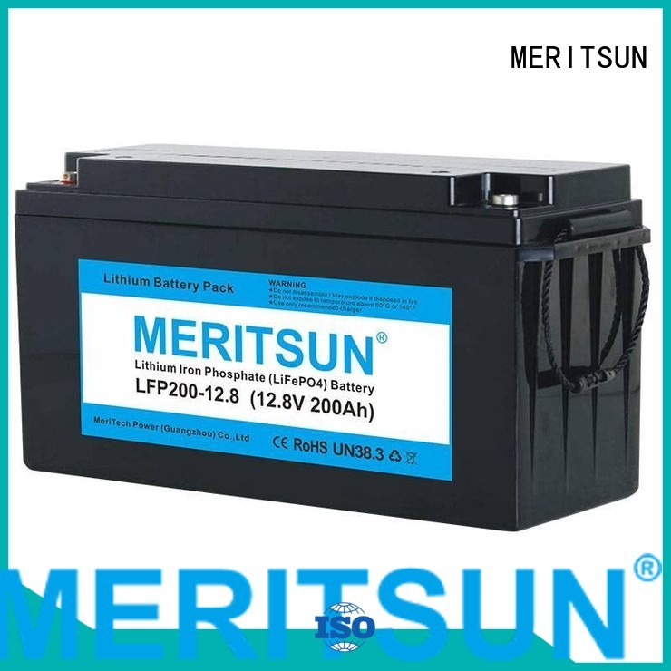 app cycle lifepo4 battery price MERITSUN manufacture