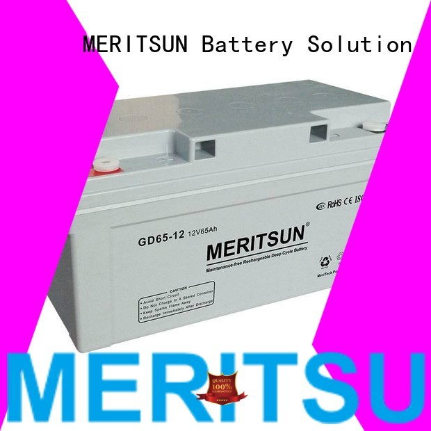 Wholesale flooded vrla gel battery MERITSUN Brand