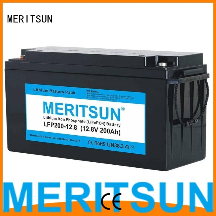 lifepo4 battery price 256v 2000 lifepo4 battery MERITSUN Brand