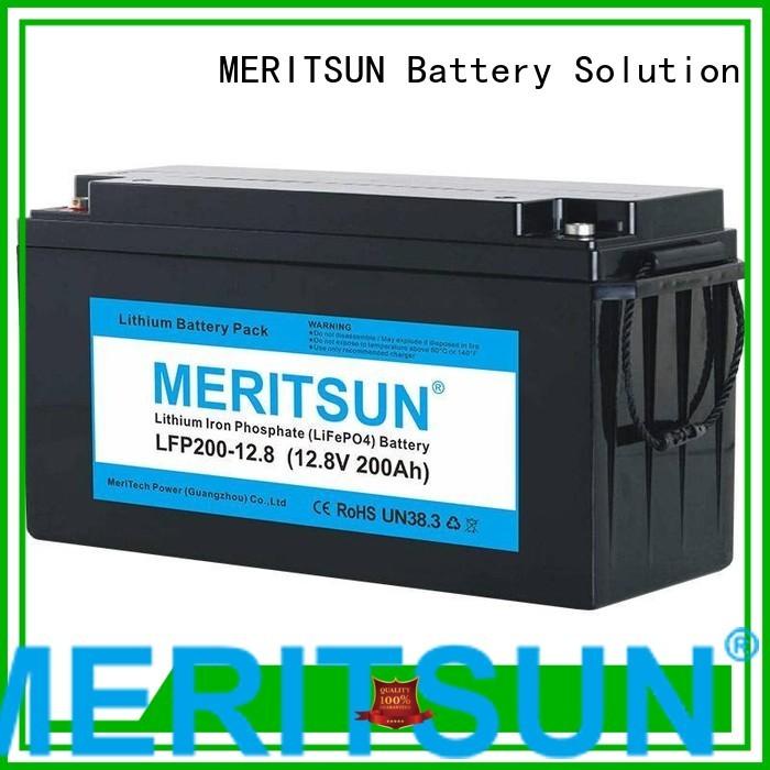 Wholesale cycles 12v lifepo4 battery MERITSUN Brand