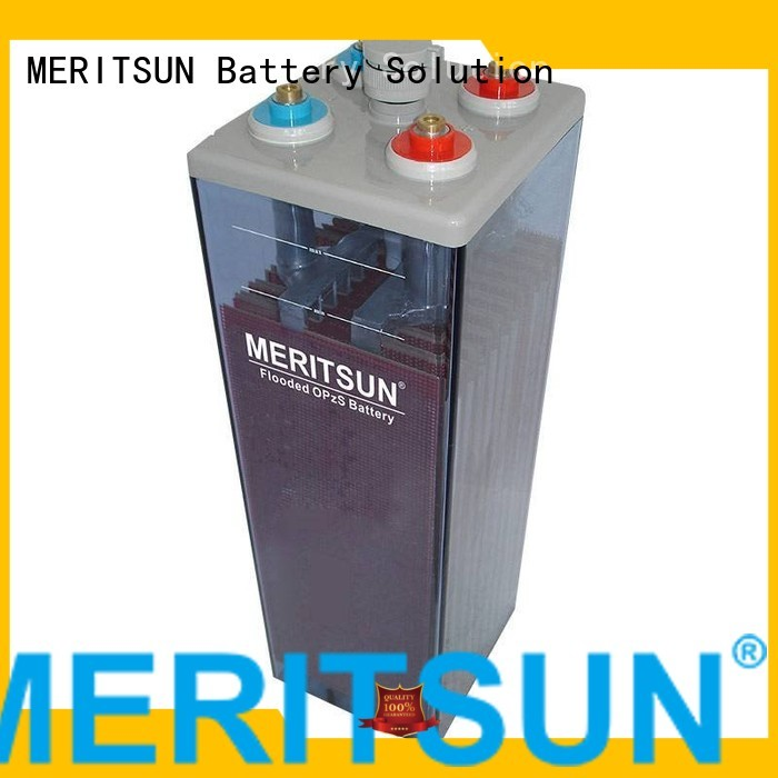 MERITSUN Brand battery flooded gel opzv opzv battery