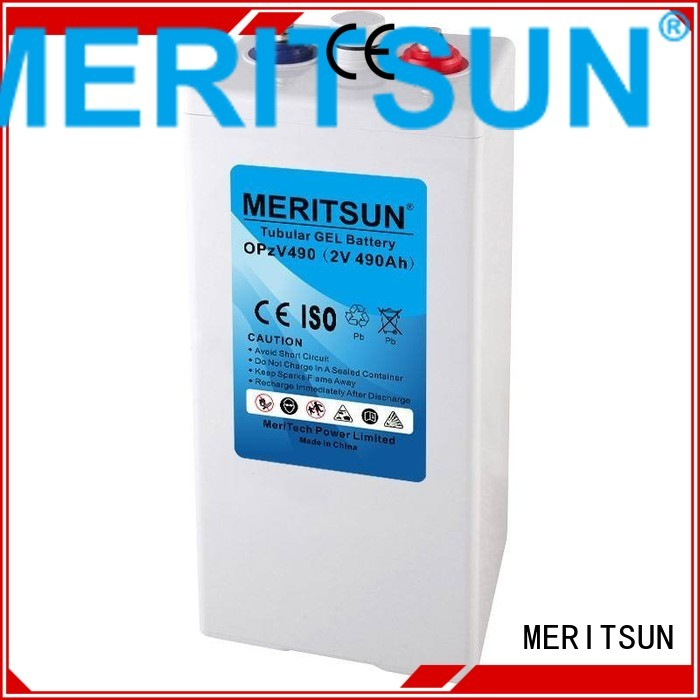 vrla deep terminal battery MERITSUN Brand opzv battery supplier