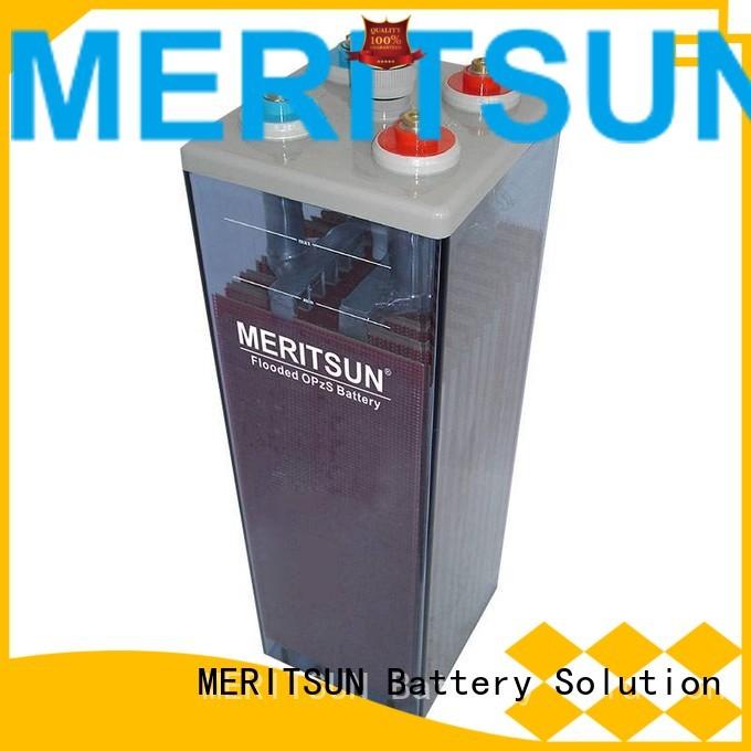 Wholesale deep vrla gel battery flooded MERITSUN Brand