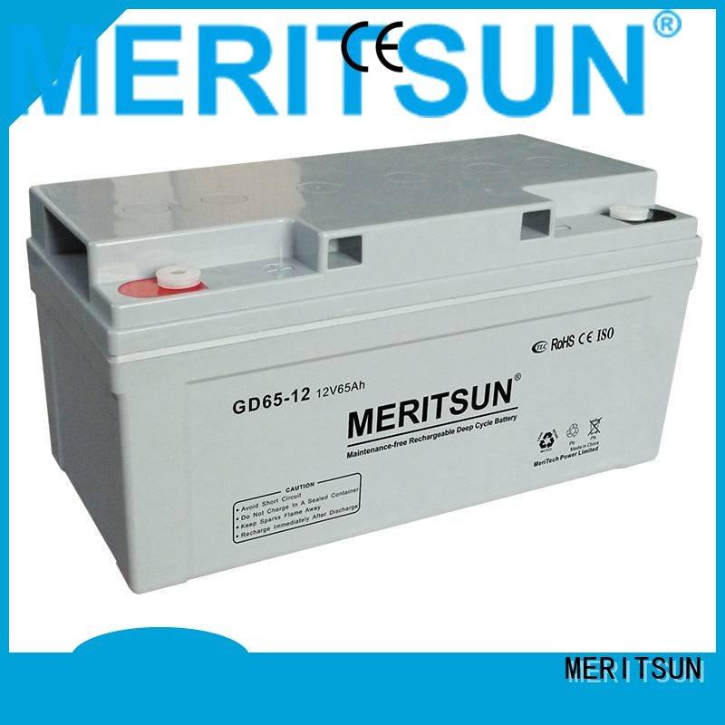 flooded cycle MERITSUN Brand vrla gel battery factory