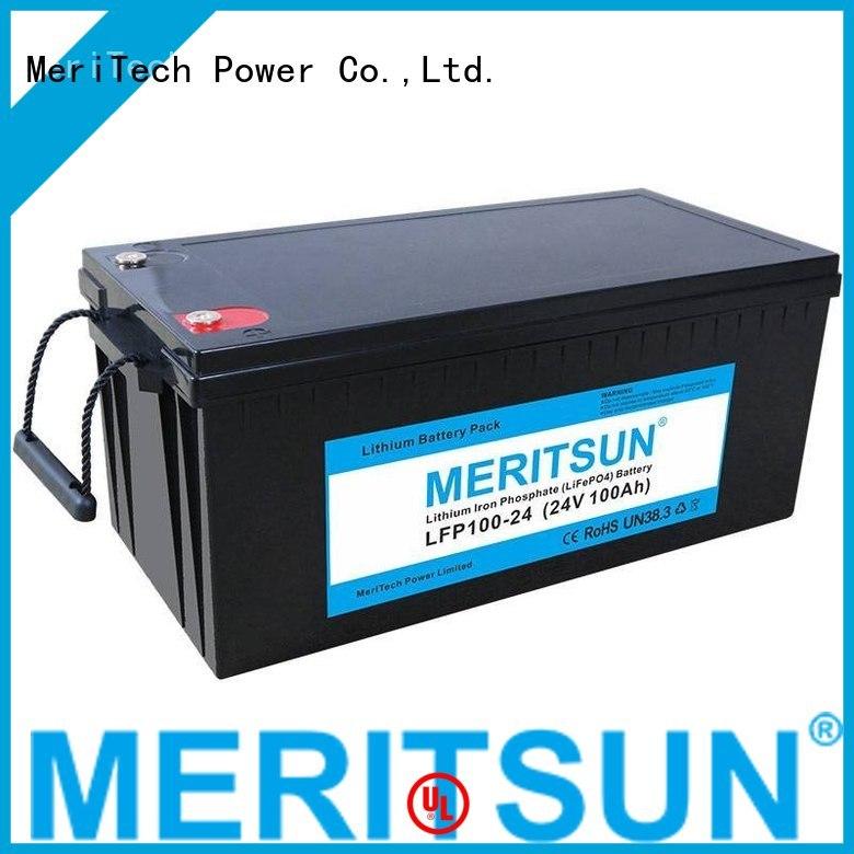 256v 12v lcd MERITSUN Brand lifepo4 battery price factory
