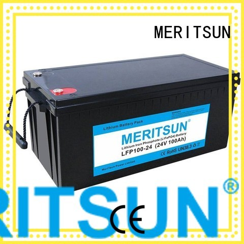 Wholesale lithium lifepo4 battery price MERITSUN Brand