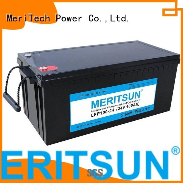 lifepo4 battery price 100dod control 2000 Warranty MERITSUN