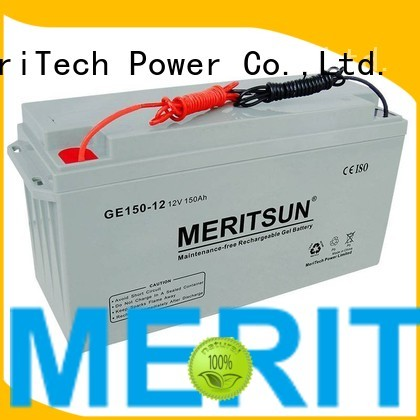 vrla gel battery cycle tubular flooded MERITSUN Brand opzv battery