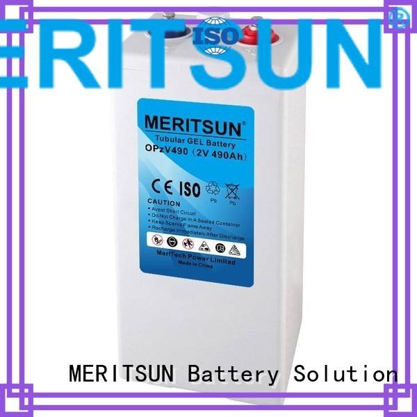 opzv tubular deep vrla gel battery MERITSUN manufacture