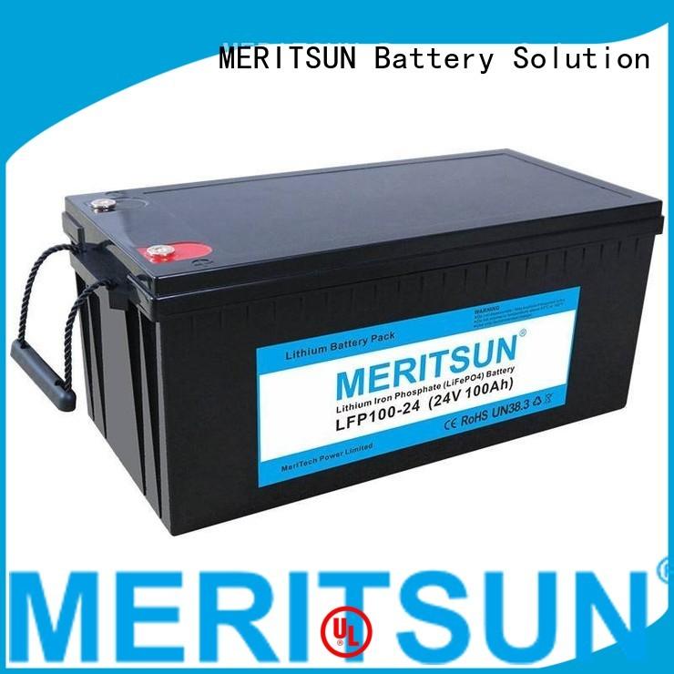 Hot lifepo4 battery ion MERITSUN Brand