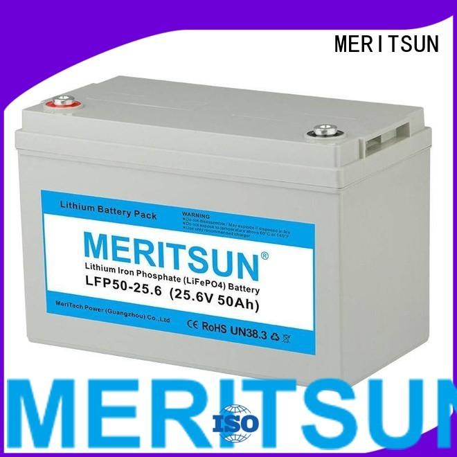 bluetooth solar 256v 200ah MERITSUN Brand lifepo4 battery supplier